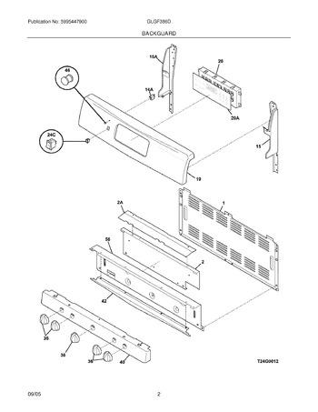 Diagram for GLGF386DSE