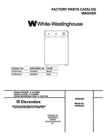 SWS933AS1 Westinghouse Motor Wiring Diagram Type Fj on