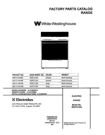 Diagram for WEF311SHWA