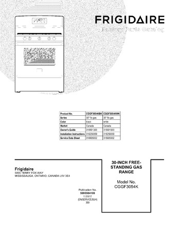 Diagram for CGGF3054KBK