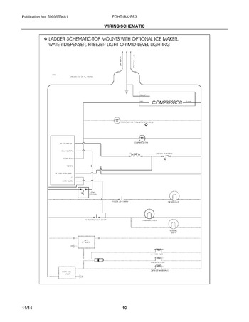 freezer wiring schematic 253 14592101, freezer thermostat, freezer  components diagram, freezer wiring a