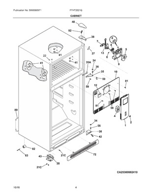 242077701   frigidaire refrigerator evaporator fan motor