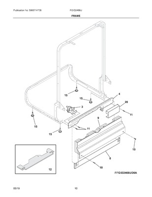 154200701 : FRIGIDAIRE DISHWASHER   Appliance Parts HQ on