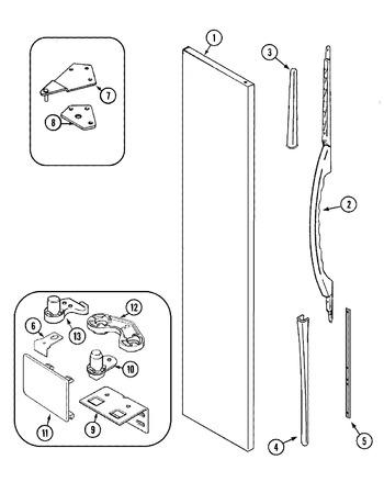 Maytag Refrigerator Door Handle Part # 61005442