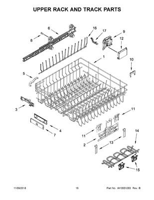 diagram on w10267076 : whirlpool dishwasher upper rack clip | appliance  parts on