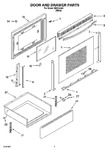 Diagram for 03 - Door And Drawer Parts