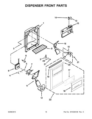 8201649 : whirlpool refrigerator ice door kit