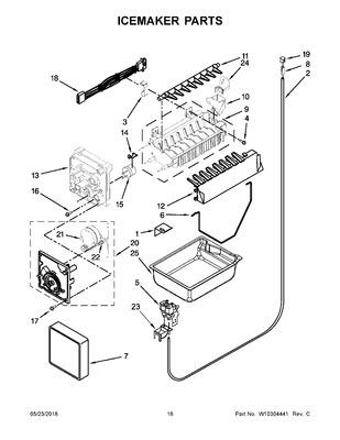 12544124 Whirlpool Refrigerator Water Inlet Valve