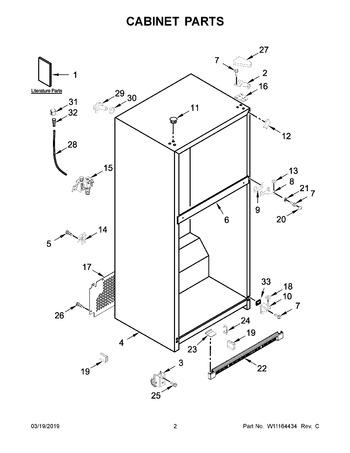 Whirlpool Refrigerator Freezer Door Handle WPW10672334 /& Cap W10838316