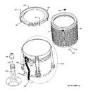 Diagram for 3 - Tub, Basket & Agitator