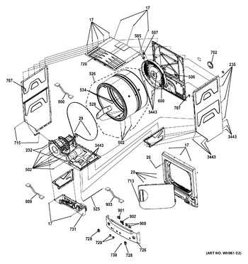 2661532210 appliance parts hq Kenmore Model 110 Washing Machine Parts diagram for 2661532210