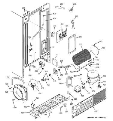 WG03F01515 : GE Refrigerator Capacitor on