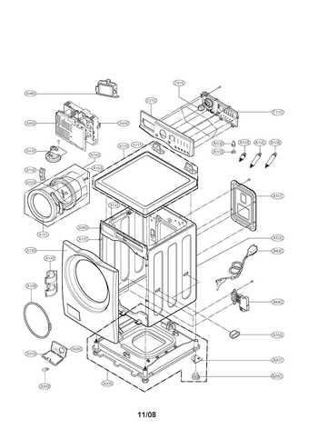 LG Electronics 3581ER1008N Front-Load Washer Door Assembly
