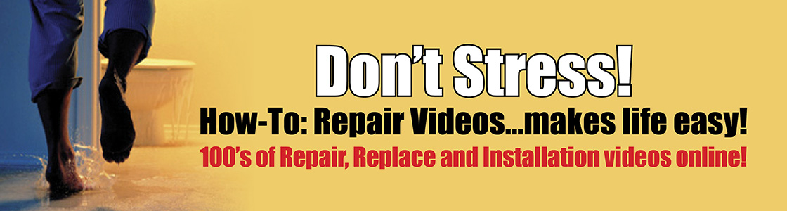 Dont Stress! How-To: Repair Videos ... makes life easy! 100s of Repair, Replace, and Installation videos online!