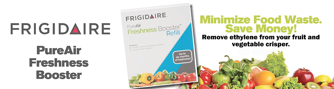 Frigidaire PureAir Freshness Booster - Minimize Food Waste. Save Money! Remove ethylene from your fruit and vegetable cripser.