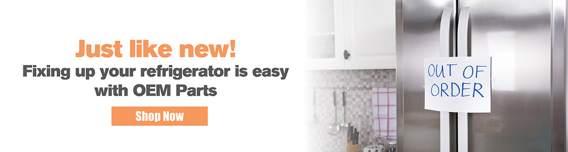 Just Like New! Fixing up your refrigerator is easy with OEM Parts - Shop Now