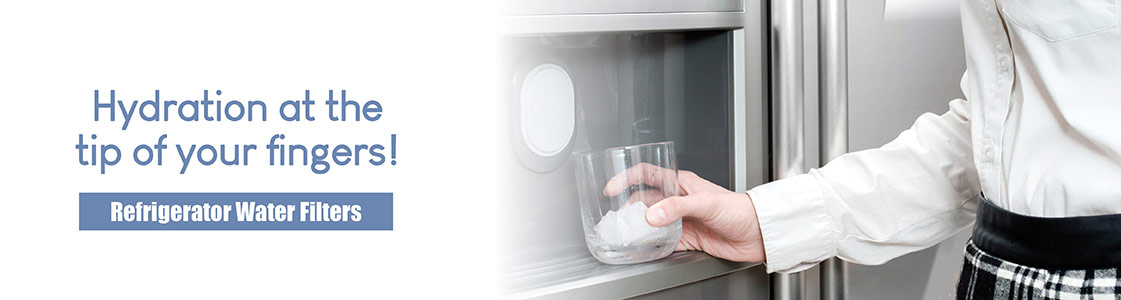 Hydration at the tip of your fingers! Refrigerator Water Filters